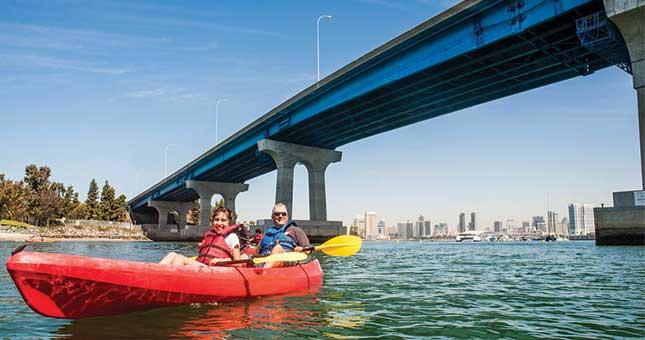 Kayak Under the Coronado Bridge