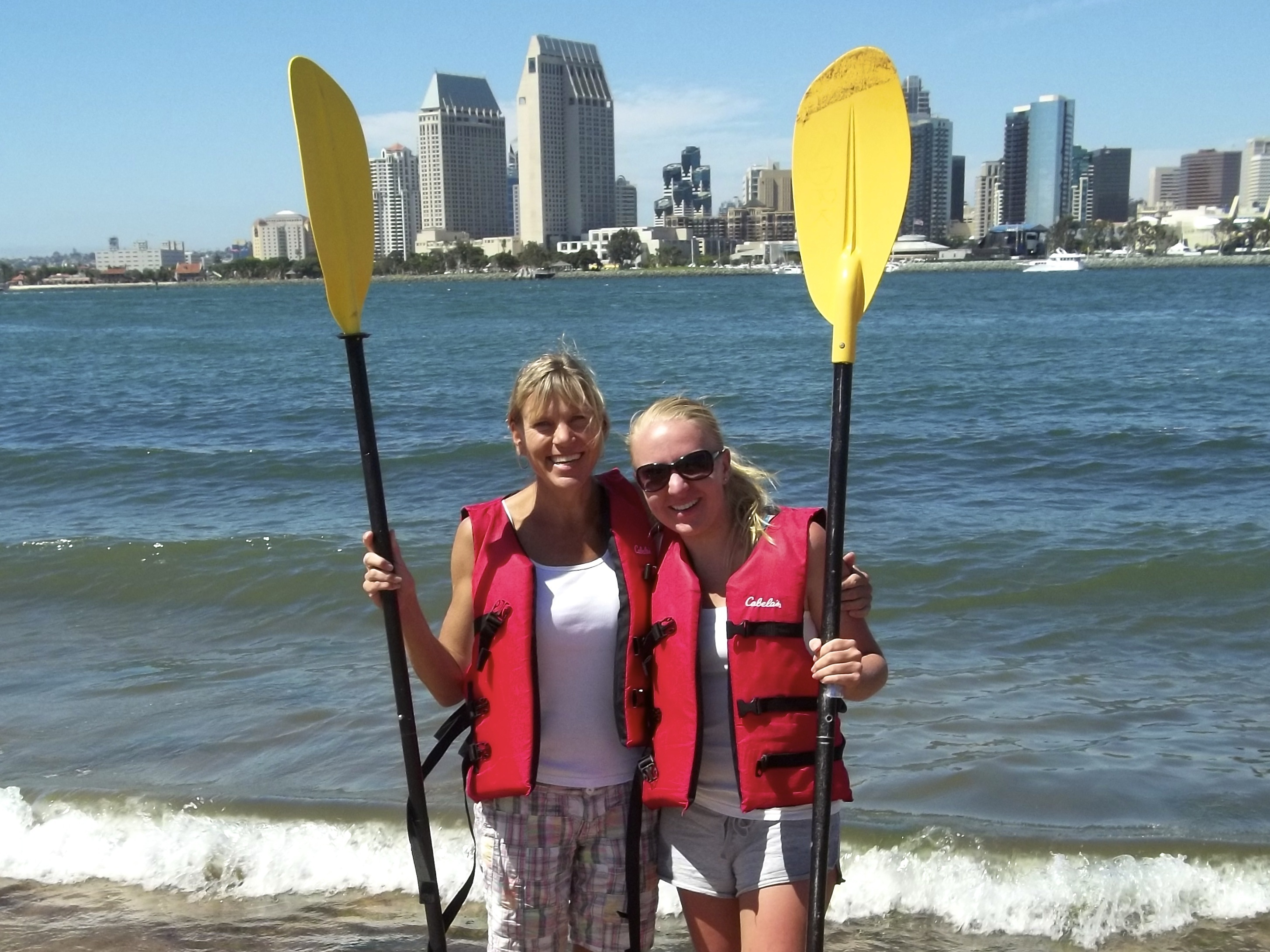 Chelsey Schmid and her mom on a Coronado kayaking adventure!