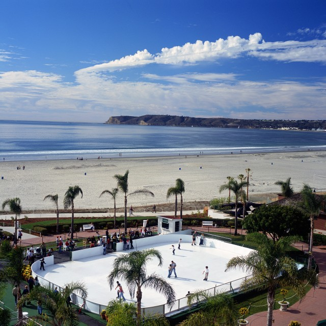Skating by the Sea at the Hotel del Coronado