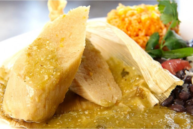 The Mission Restaurant's sweet corn tamales breakfast