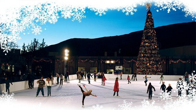 SoCal's largest ice skating rink at Viejas Outlet Center!