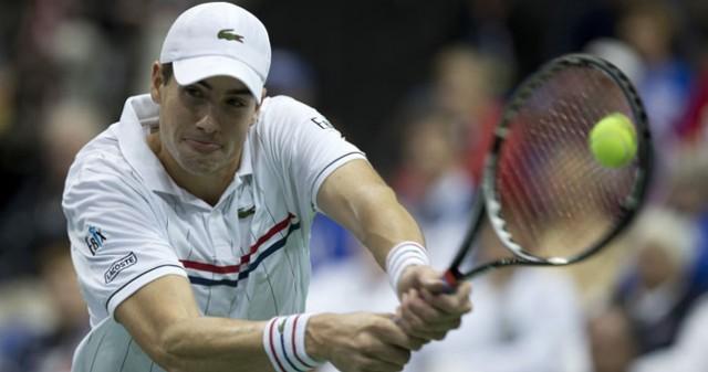 John Isner at the Davis Cup