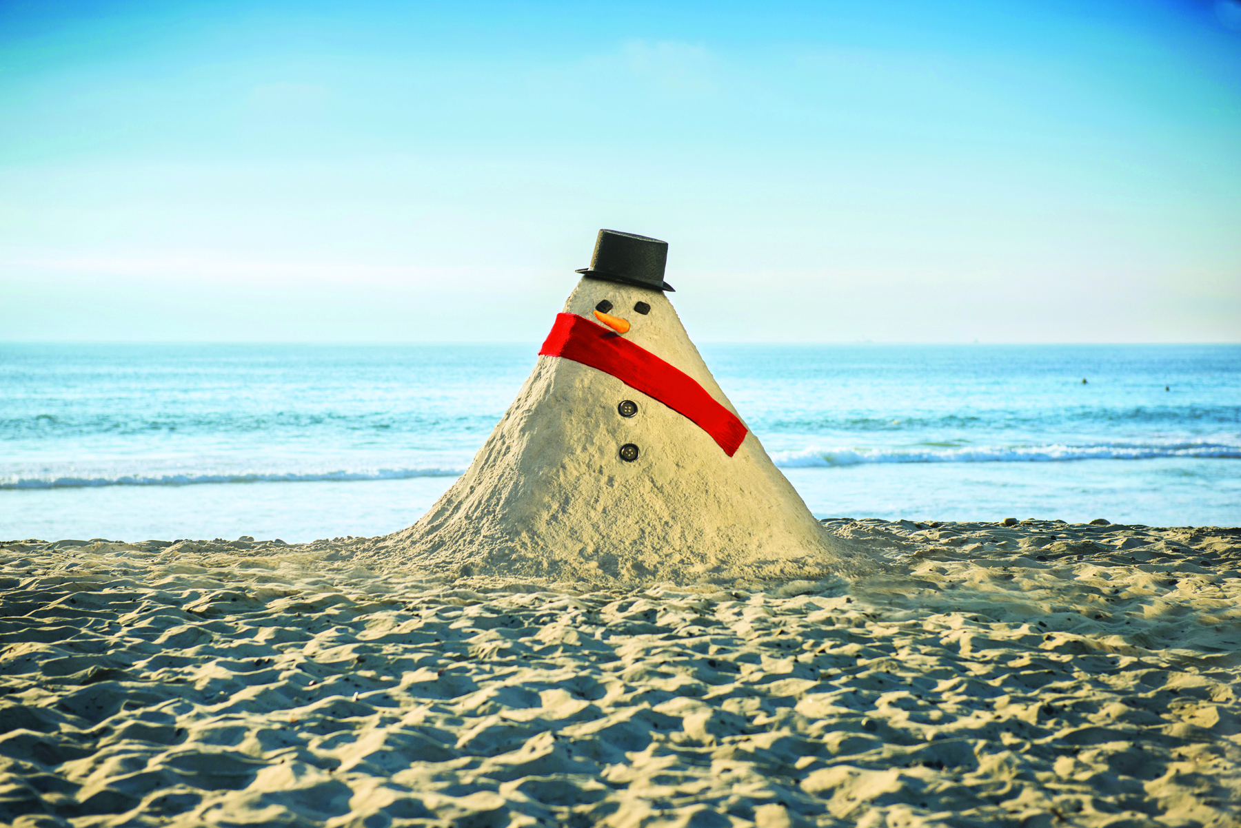 From sand to snow - in San Diego!