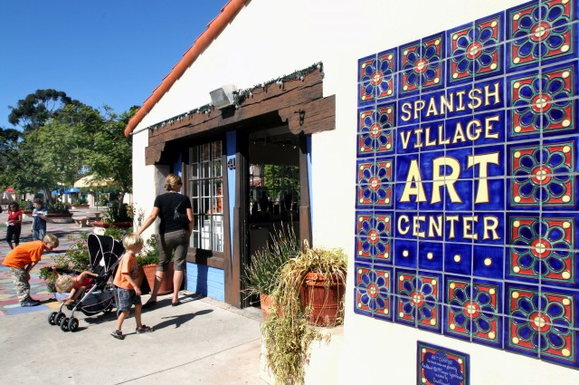 Weekly activities, art classes and art fairs make visiting the Spanish Village Art Center a fun time year round. Photo courtesy sandiego.org.