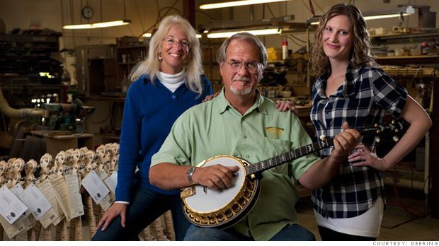 Janet, Greg and Jamie Deering, founders of Deering Banjo Company