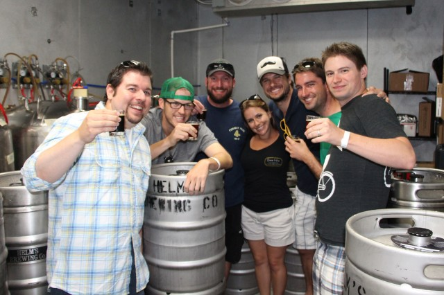 In Helm's Brewing Freezer with Brew Hop