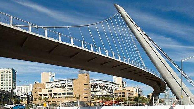 Hilton Bayfront pedestrian bridge Petco Park
