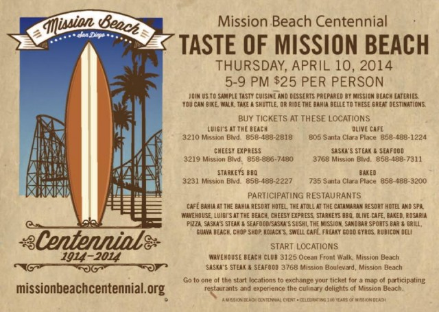 Mission Beach Centennial - Taste of Mission Beach - Top Things to Do in San Diego