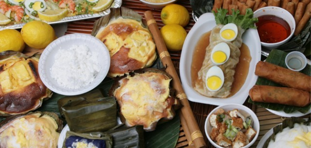 Vast array of Filipino food at Manila Sunset