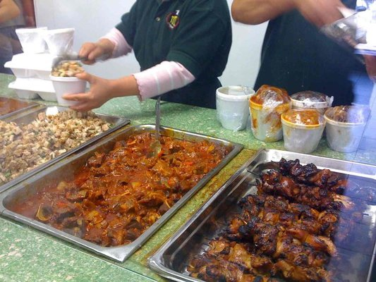 Tasty chicken skewers at Tita's Kitchenette!