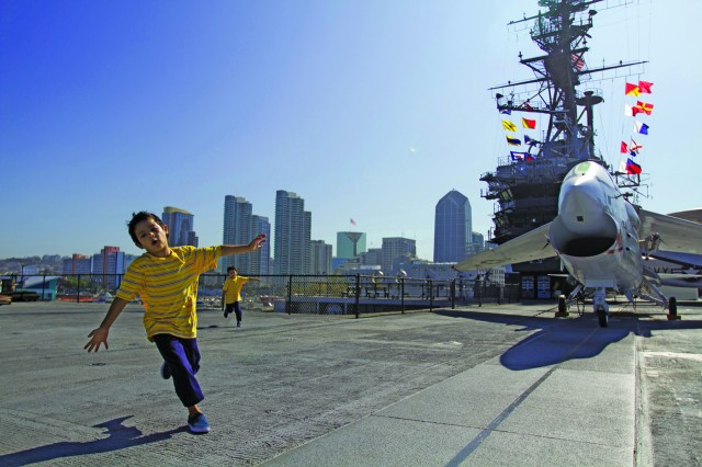 Fun for all ages on the USS Midway!