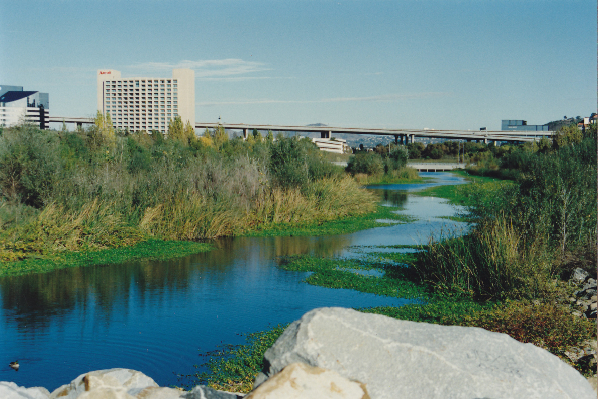 San Diego River flowing through Mission Vallley