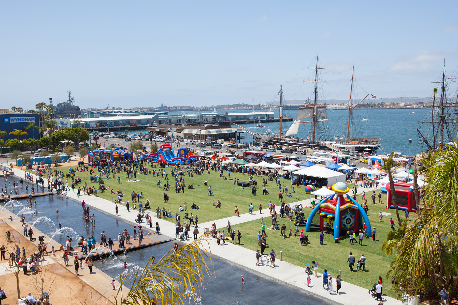 Waterfront Park - prime new spot to watch the Big Bay Boom (photo credit: County of San Diego)