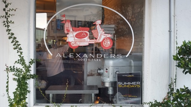 Enjoy fresh pastas, salads and personal size pizzas at Alexander