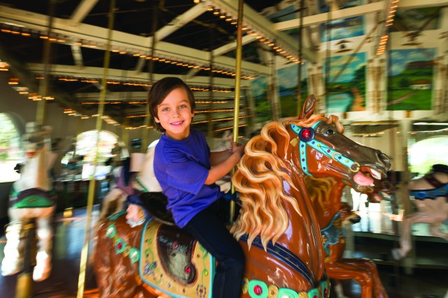 Boy on Carousel at Seaport Village