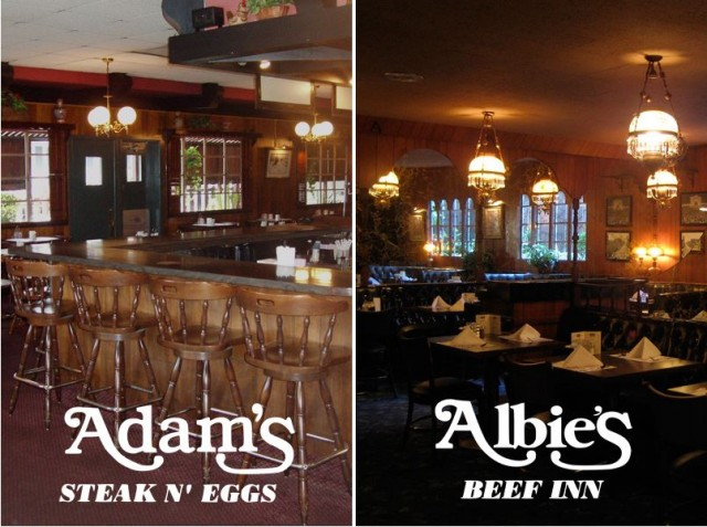 Lounge-tastic Albie's Beef Inn and Adam's Steak & Eggs