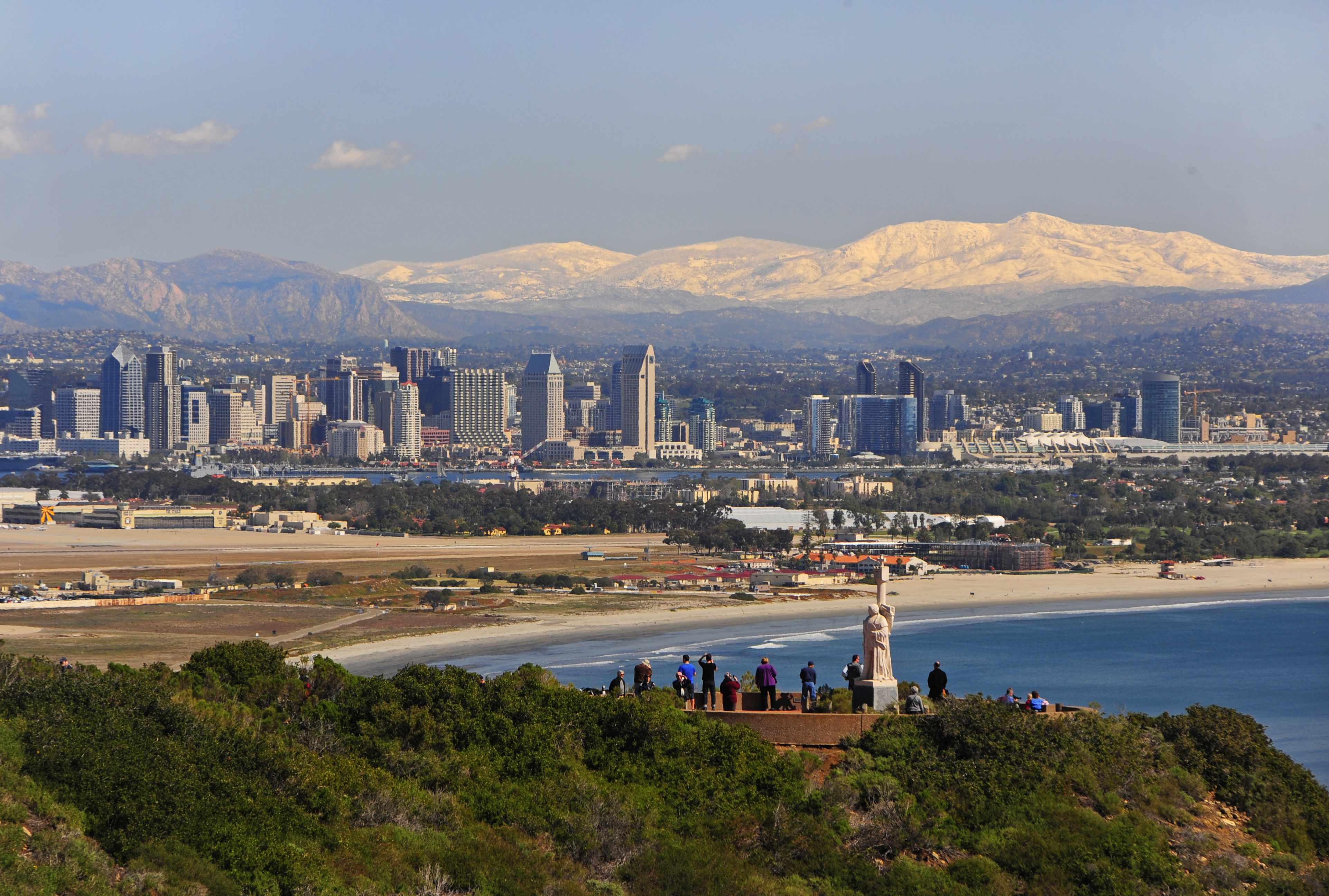 San Diego Skyline From Pt Loma Cabrillo National Monument