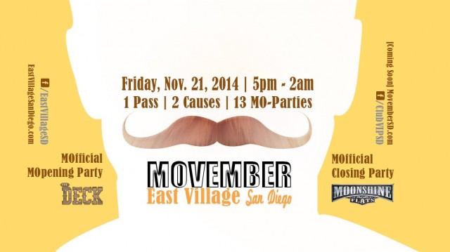San Diego MOvember Bash - Top Things to Do