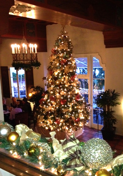 La Valencia Hotel's 14 ft. Christmas Tree in La Sala Lounge