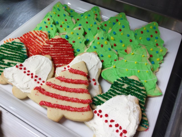 Chef's yummy holiday cookies at La Valencia Hotel!