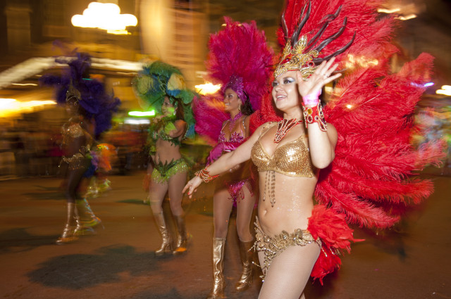 Samba Dancer at Mardi Gras -Courtesy Enne Bi Communications