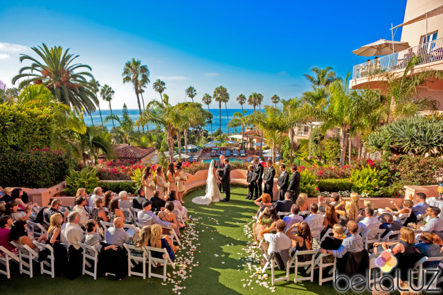 Lovely La Valencia Hotel wedding.