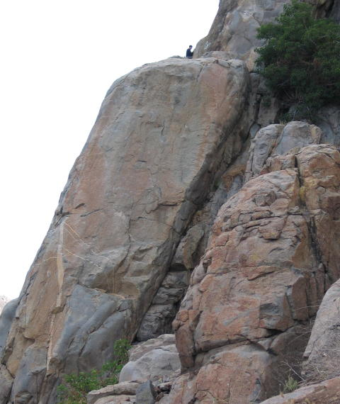 Main Climbing Wall in popular Mission Gorge