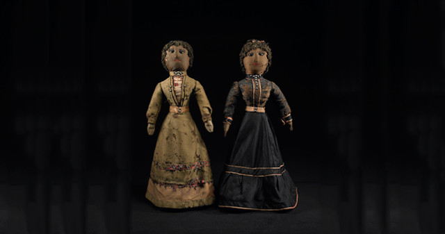 Sisters - Black Dolls - Mingei International Museum