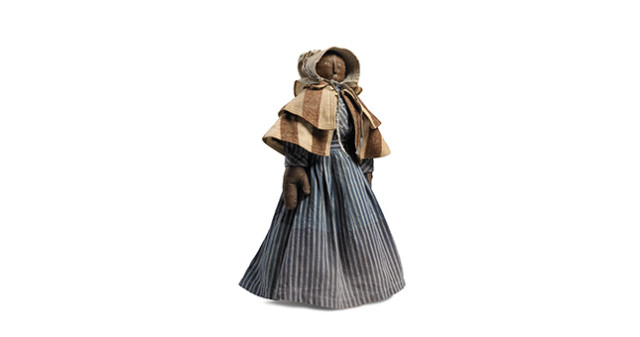 Woman with Striped Cape - Black Dolls - Mingei International Museum