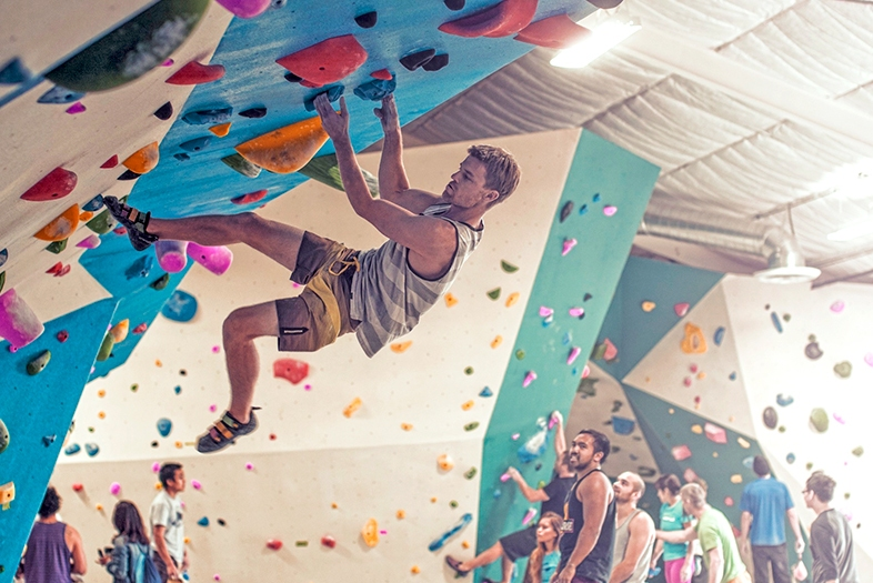 Mission Valley's new Grotto Rock Climbing & Yoga