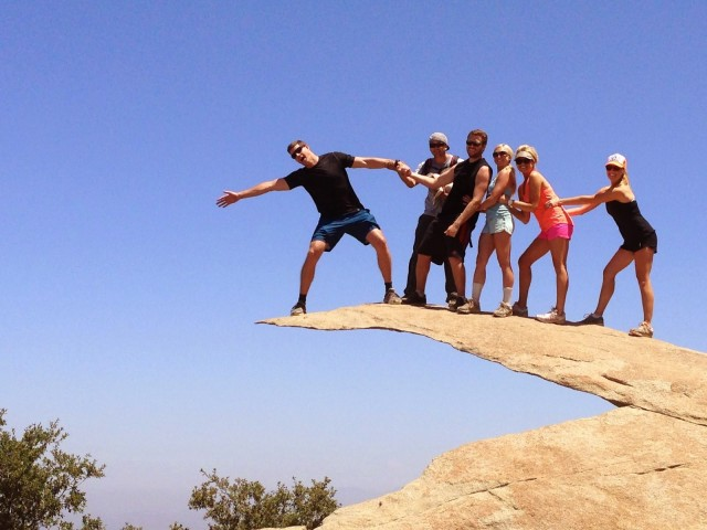 The popular Potato Chip Rock atop Mt. Woodson Trail