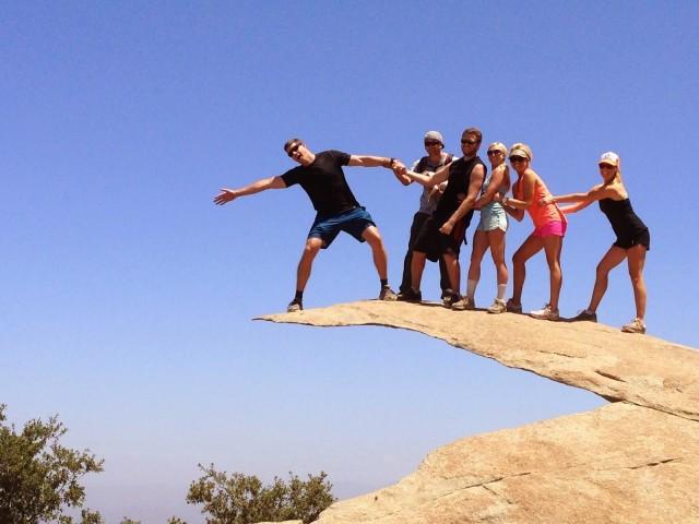 The popular Potato Chip Rock atop Mt. Woodson Trail
