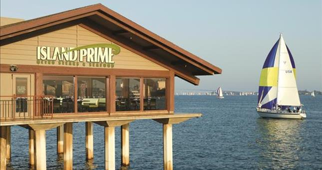 Primo bay views and food at Island Prime restaurant