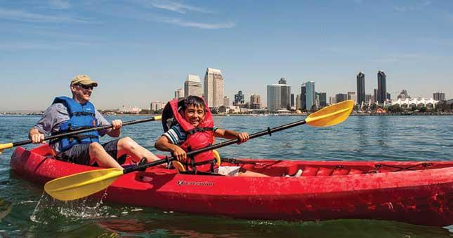 Bike & Kayak Tours' kayak adventure from Coronado Ferry Landing
