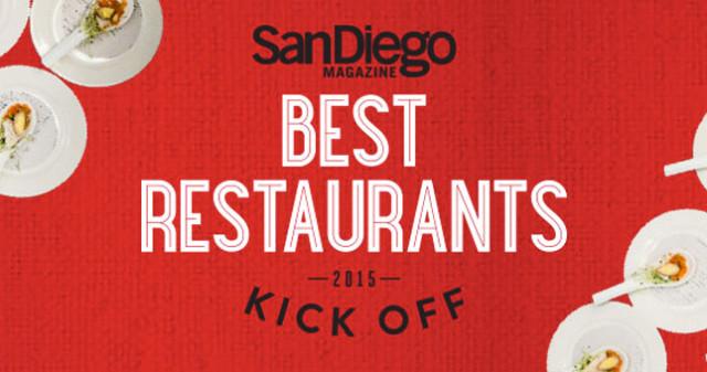 San Diego Magazine Best Restaurants Kick Off 2015