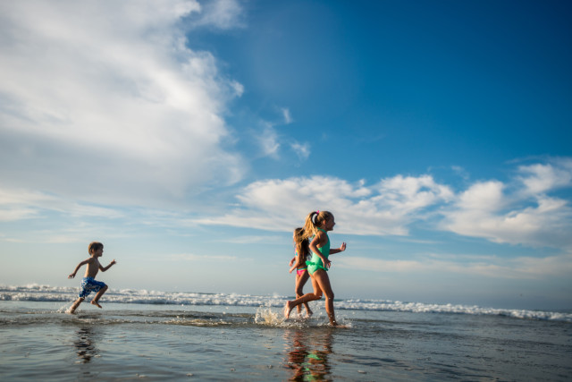 Kids Play at One of San Diego's Family Friendly Beaches