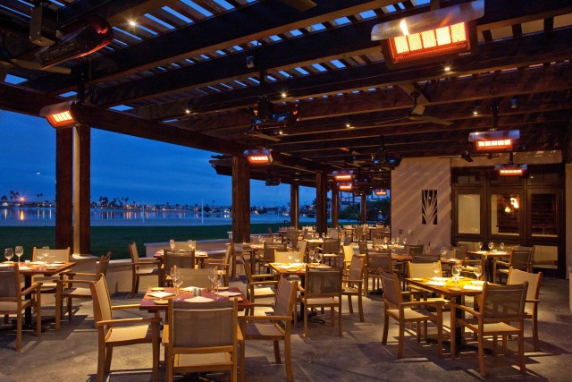 Oceana patio night- courtesy Oceana Coastal Kitchen