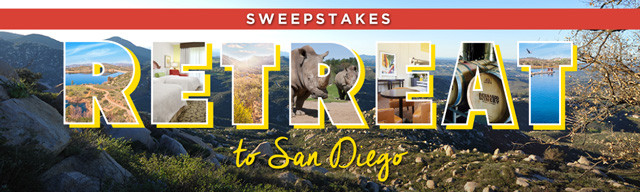 Enter the Retreat to San Diego Sweepstakes