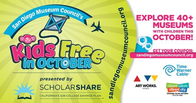 San Diego Museum Council's Kids Free in October