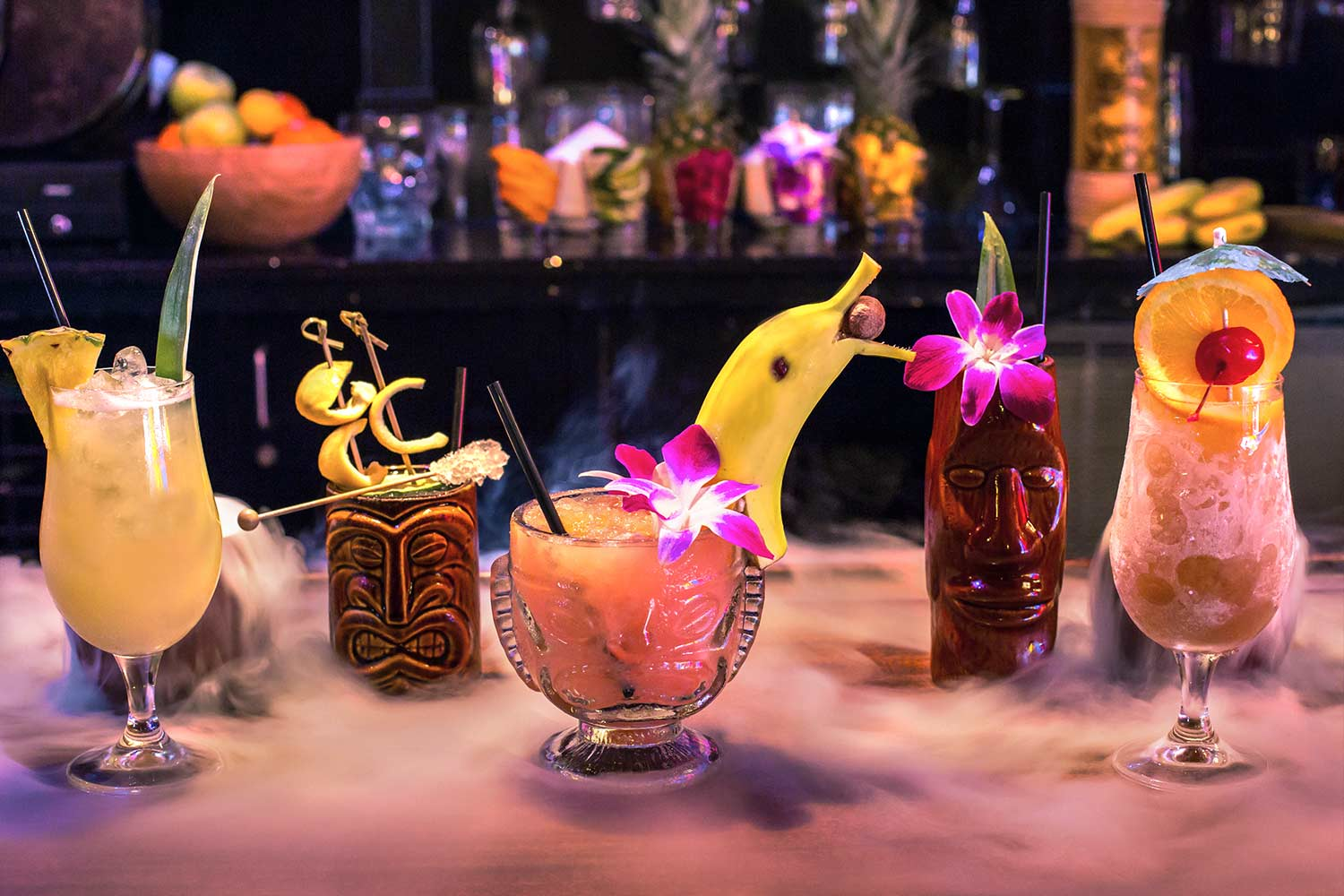 Cat Eye Club Tiki Drinks