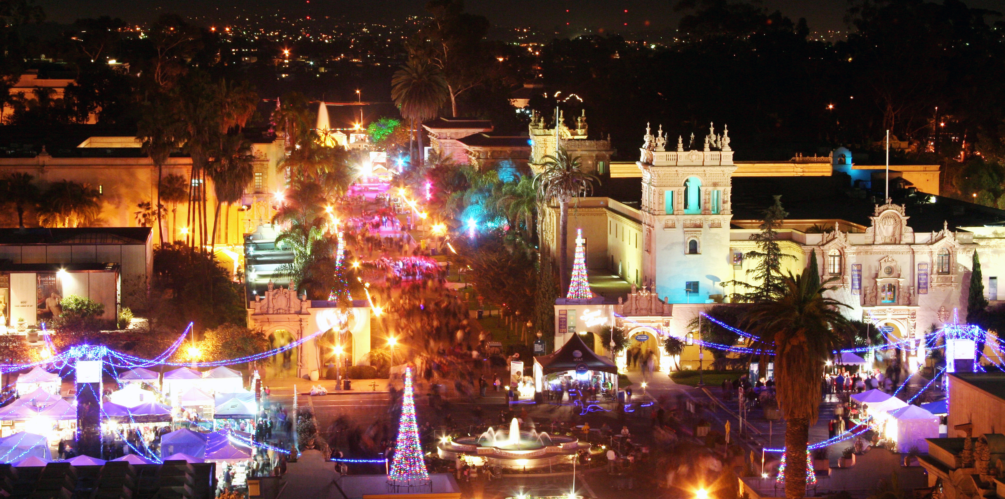 Balboa Park December Nights in San Diego