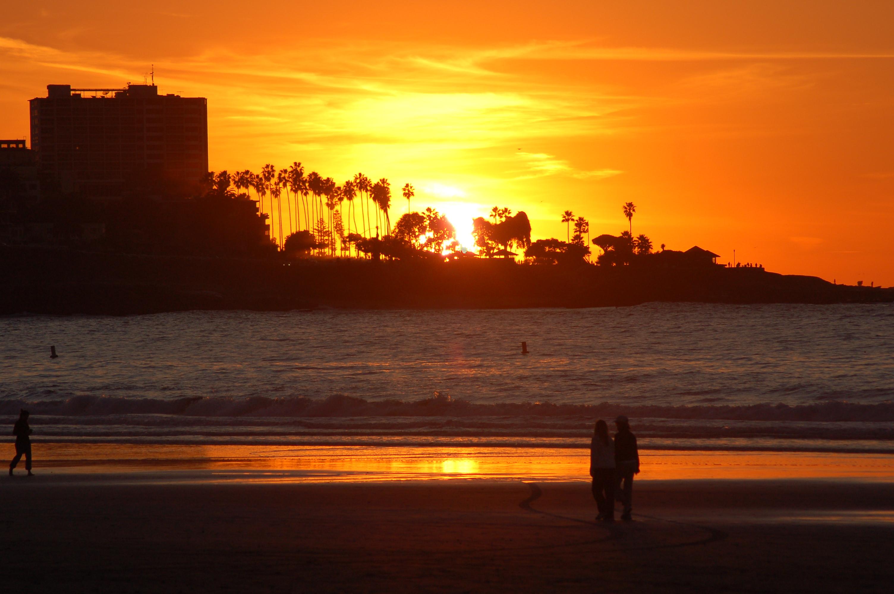 La Jolla Hotels >> Sunset from La Jolla Shores - San Diego Travel Blog