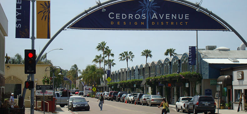 Cedros Avenue Sign
