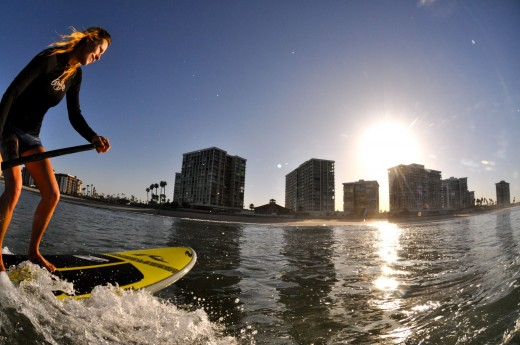Standup Paddleboarding on Mission Bay
