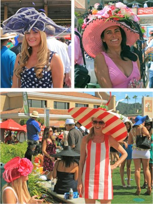 Opening Day hats on display at the Del Mar Racetrack