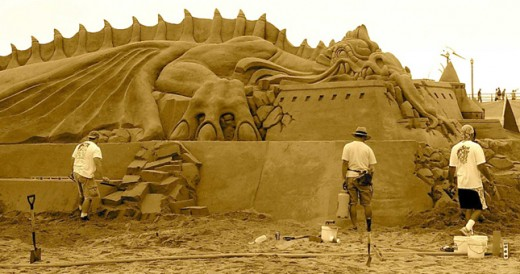 dragon sand castle