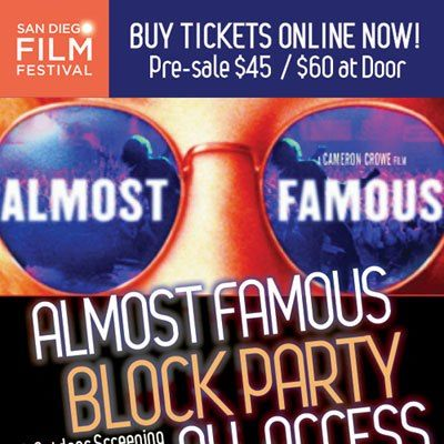 San Diego Almost Famous Block Party Flyer
