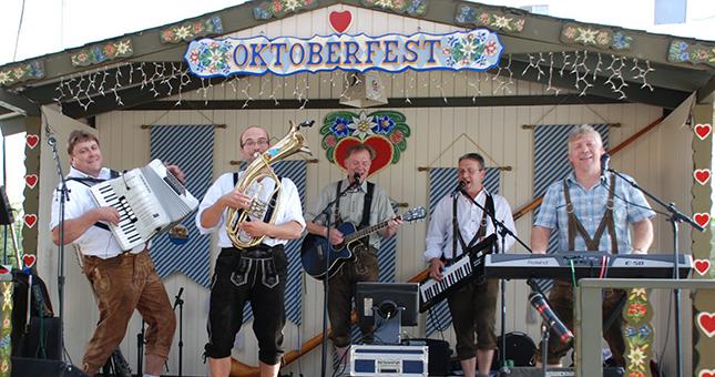 Band Playing at Oktoberfest