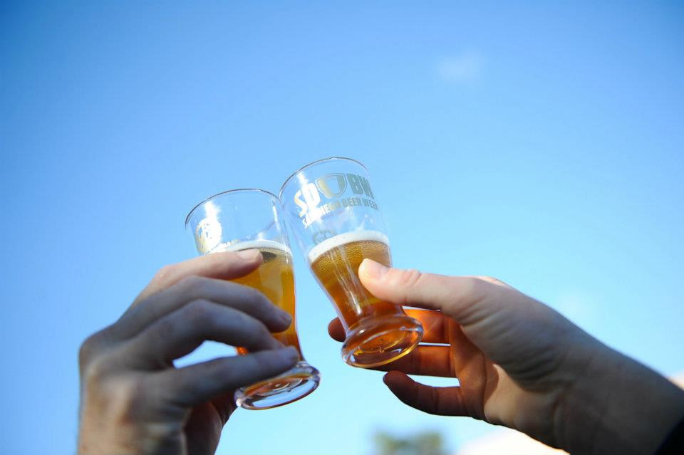 Cheers during San Diego Beer Week