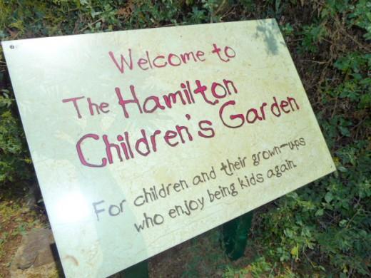 San Diego Botanic Garden Hamilton Children's Garden Sign
